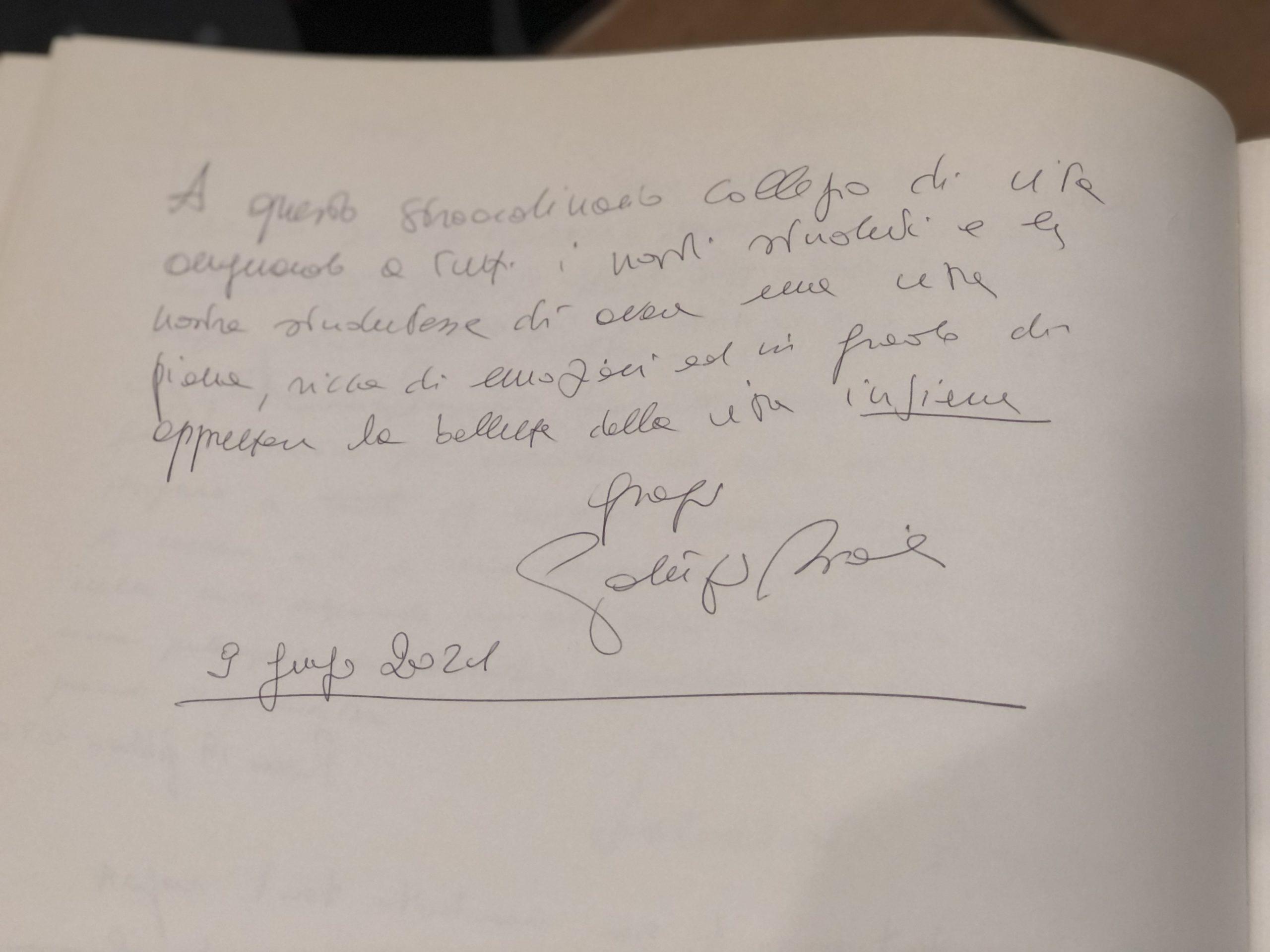 dedica Patrizio Bianchi Lamaro pozzani